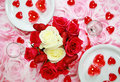 Table setting for Valentine Stock Images
