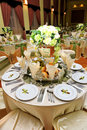 Table setting - wedding Royalty Free Stock Photography