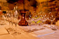 Table Setting for Wine Tasting Royalty Free Stock Photo