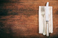 Table setting on wooden background Royalty Free Stock Photo