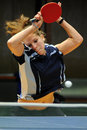 Table tennis action Stock Images