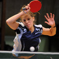 Table tennis action Royalty Free Stock Photo