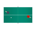 Table tennis isolated on white background. Vector illustration. Royalty Free Stock Photo