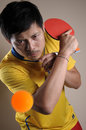 Table Tennis man Stock Image
