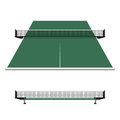 Table tennis ping pong net illustration Stock Photos