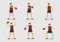 Table Tennis Player Vector Character Illustration Set Royalty Free Stock Photo