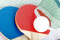 Table tennis rackets with ball small Stock Image