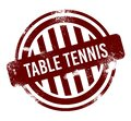 Table Tennis - red round grunge button, stamp Royalty Free Stock Photo