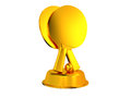 Table tennis trophy white background Stock Photo