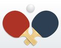 Table tennis two rackets and a ball vector illustration isolated Stock Image