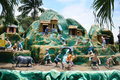 Tableaux display of farmers at Haw Par Villa theme park in Singapore. Royalty Free Stock Photo