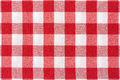 Tablecloth background red and white gingham texture high detailed Royalty Free Stock Photos
