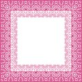 Tablecloth border pattern Royalty Free Stock Photo