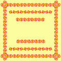 Tablecloth border pattern or postcard design background vector illustration Royalty Free Stock Image