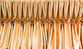 Tablecloth gold on the table Royalty Free Stock Image