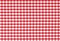 Tablecloth klasyczna w kratkę tekstura Obraz Royalty Free