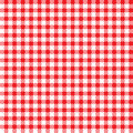 Tablecloth pattern red white seamless background Stock Images