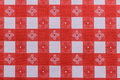 Tablecloth red and white background Royalty Free Stock Photography