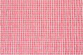 Tablecloth red and white background gingham texture high detailed Stock Photography