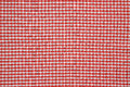 Tablecloth it is red a white close up Stock Image