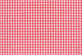 Tablecloth red and white gingham texture background high detailed Stock Photos