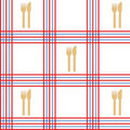 Tablecloth seamless Stock Images