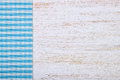 Tablecloth textile texture on wooden background Royalty Free Stock Photo