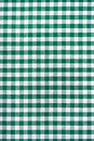 Tablecloth verde e branco Foto de Stock Royalty Free