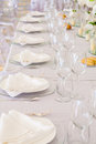 Tables decorated for a party or wedding reception Stock Photography