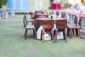 Tables decorated for a party Royalty Free Stock Photo