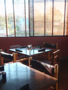 Tables in restaurant Royalty Free Stock Photo