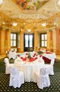 Tables set for a special occasion Royalty Free Stock Image
