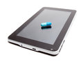 Tablet addiction conceptual image about electronic or gadget Royalty Free Stock Photos