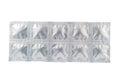 Tablet in aluminum strip pack show medicine concept Stock Image