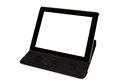 Tablet in black carrying case Stock Photography