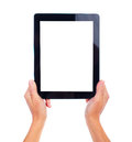 Tablet computer new isolated over white background Stock Image