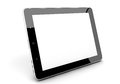 Tablet computer realistic pc with blank screen on white background Stock Photography