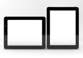 Tablet computer realistic pc computers with blank screen on white background Royalty Free Stock Photography