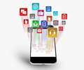Tablet Downloading Apps Royalty Free Stock Photo