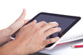 Tablet in the hands of modern digital technology Royalty Free Stock Photo