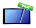 Tablet with offline message Royalty Free Stock Photography