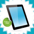 Tablet pad black glossy with sticker Royalty Free Stock Photo