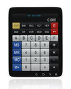 Tablet PC Calculator Stock Image