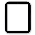 Tablet pc computer black with blank screen in white background Royalty Free Stock Photography