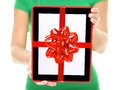 Tablet PC gift Stock Image