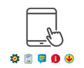 Tablet PC icon. Mobile Device sign.