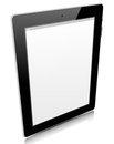 Tablet pc isolated on white Stock Photos