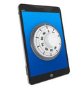 Tablet PC with Lock Stock Images