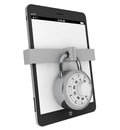 Tablet PC with Lock Royalty Free Stock Photos