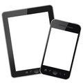 Tablet pc and mobile phone Stock Photo